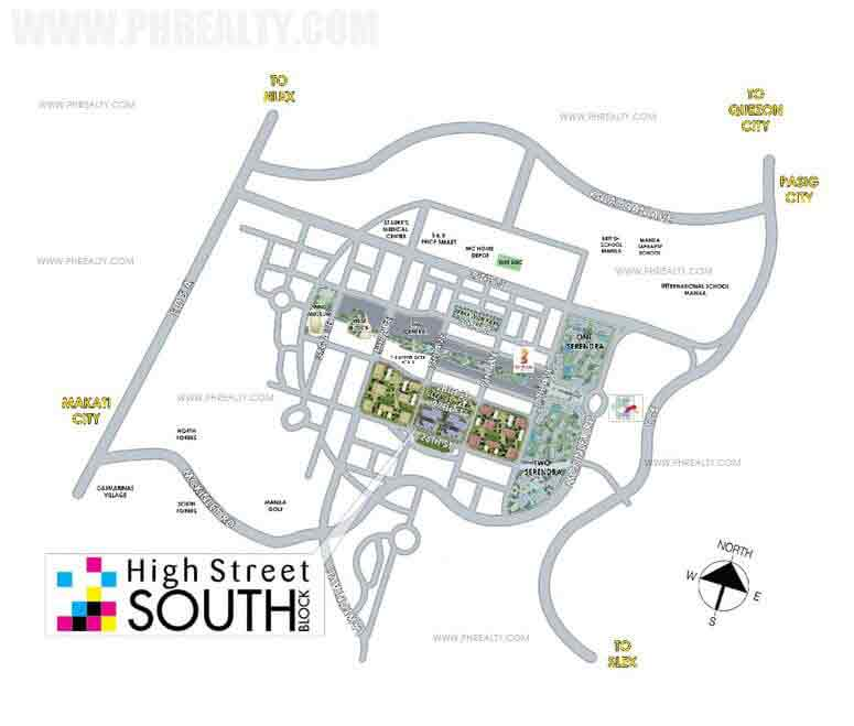 High Street South - Location Map