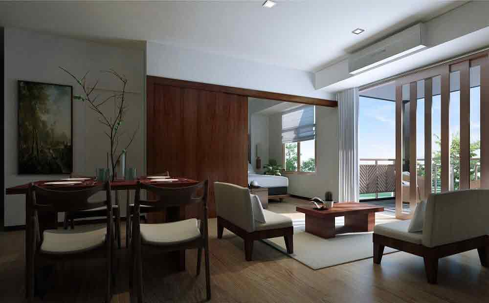 Kasa Luntian - Living and Dining Area