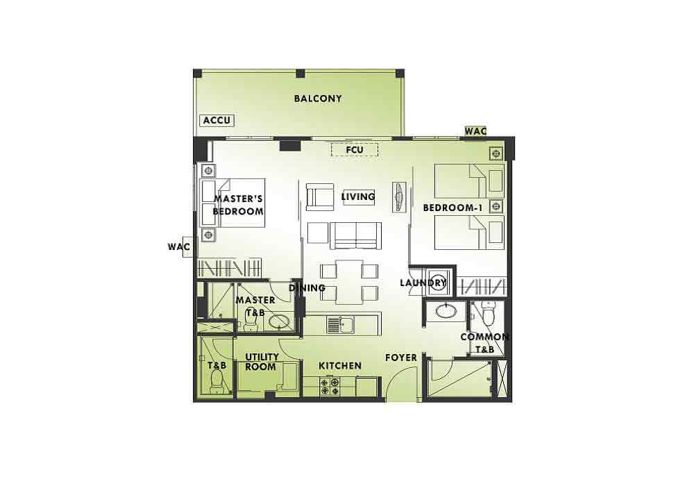 Kasa Luntian - Two Bedroom Unit