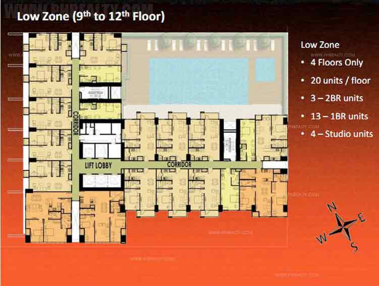 Kroma Tower  -  Low Zone (9th to 12th Floor)