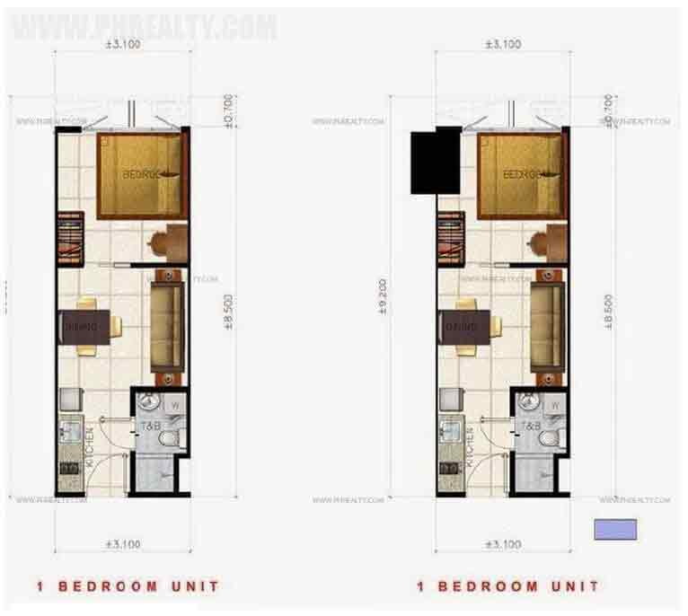 Air Residences - 1 Bedroom Unit