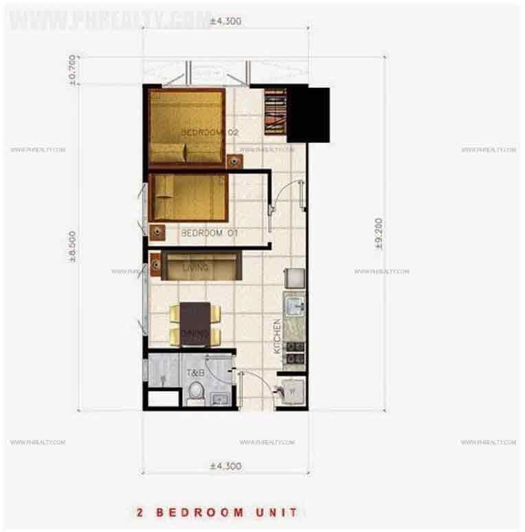 Air Residences - 2 Bedroom Unit