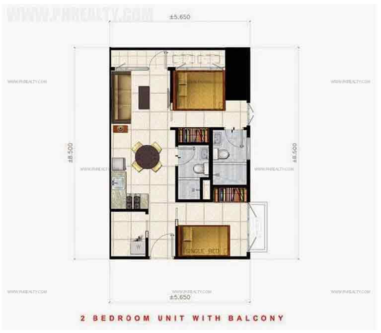Air Residences - 2 Bedroom Unit with Balcony