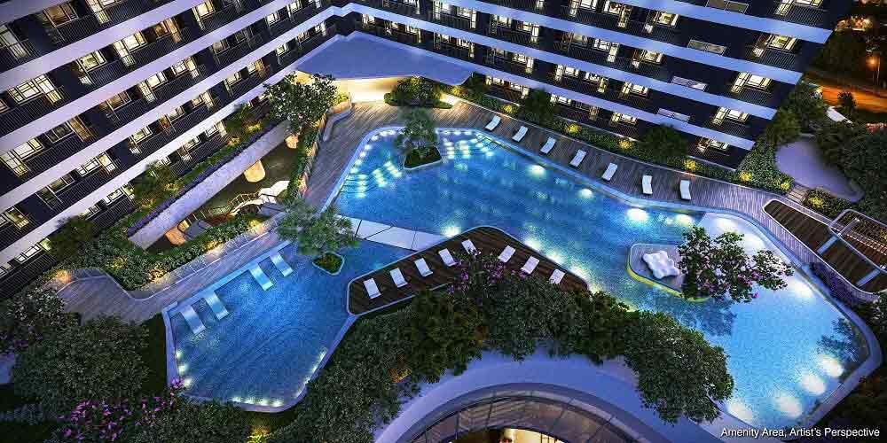 Air Residences - Amenity Area @ Night