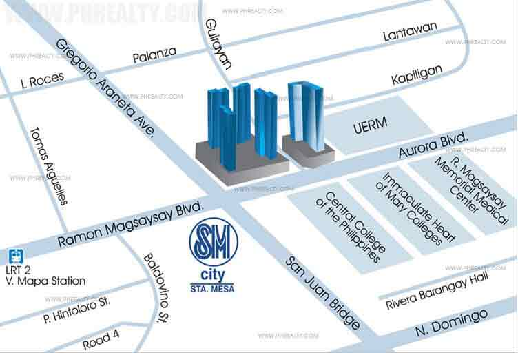 Mezza ll Residences - Location Map