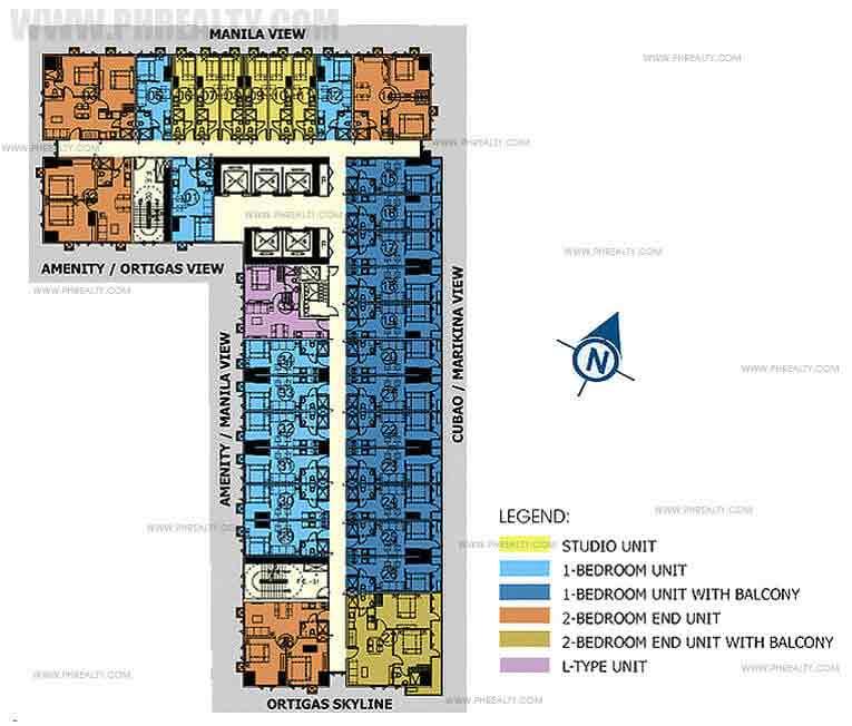 Mezza ll Residences - Penthouse 43rd Floor Plan