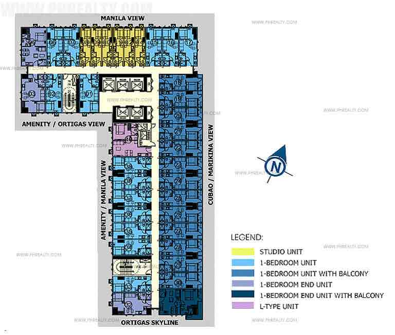 Mezza ll Residences - 24th - 42nd Floor Plan