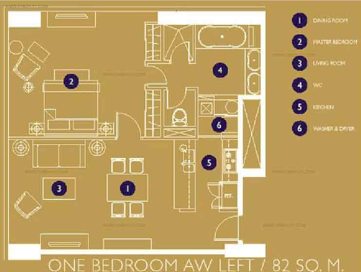 Raffles Residences - One Bedroom Unit