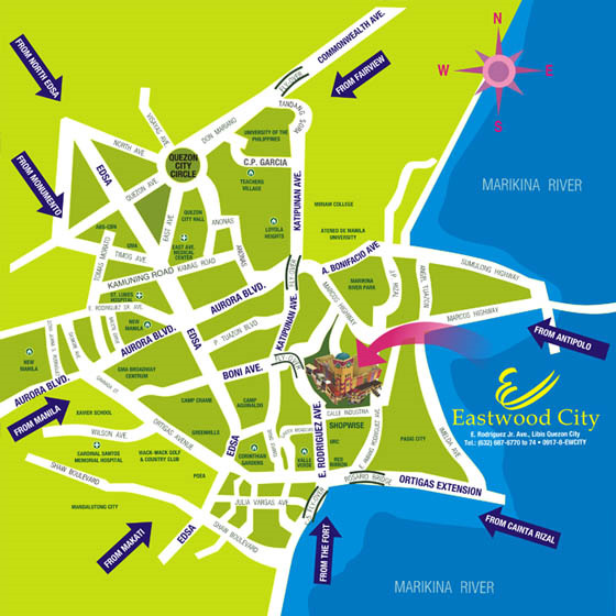 Eastwood Parkview - Location Map