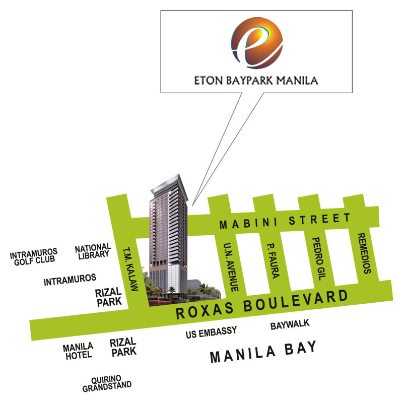 Eton Baypark Manila - Location Map