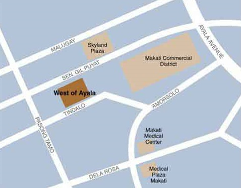West of Ayala - Location Map
