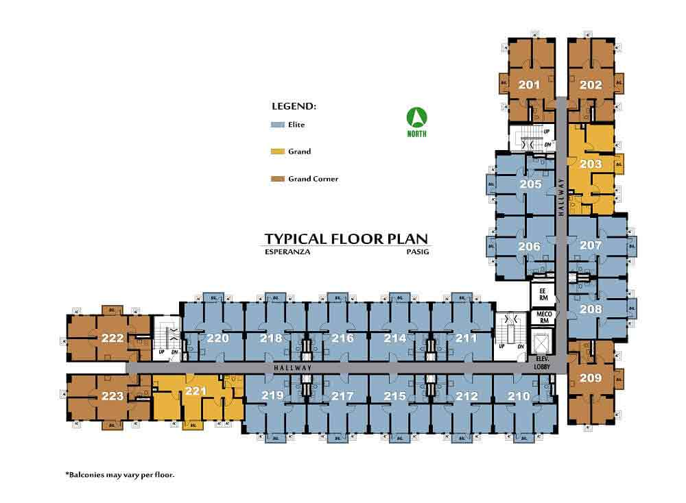 Amaia Steps Pasig -  Typical Floor Plan