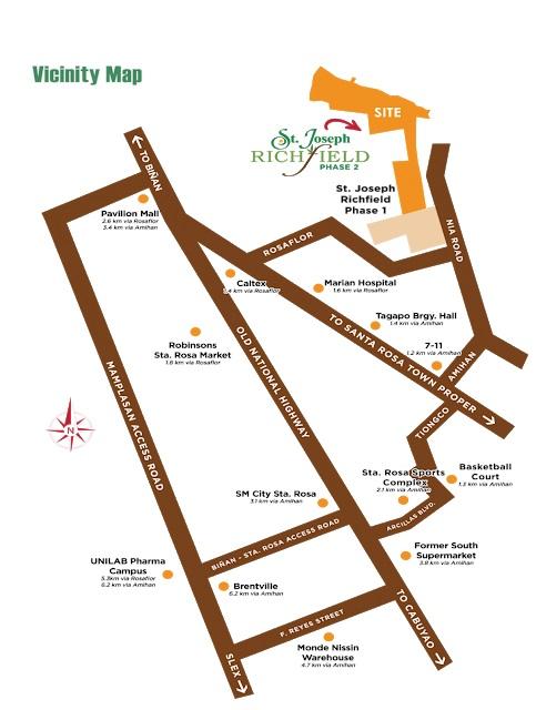 St. Joseph Richfield  - Location Map