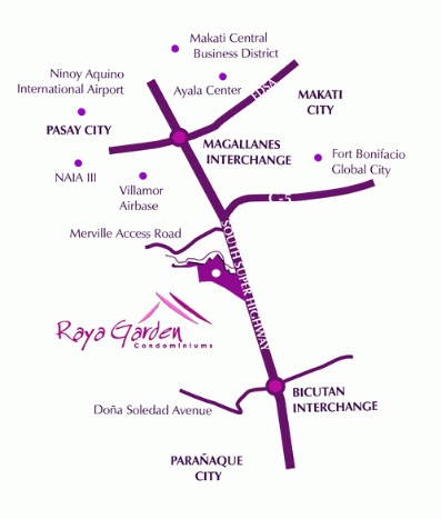 Raya Garden - Location Map