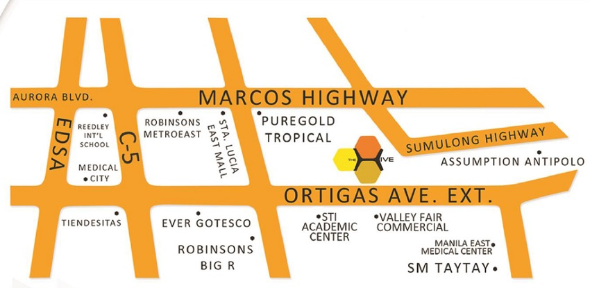 Azure Urban Resort Residences - Location Map