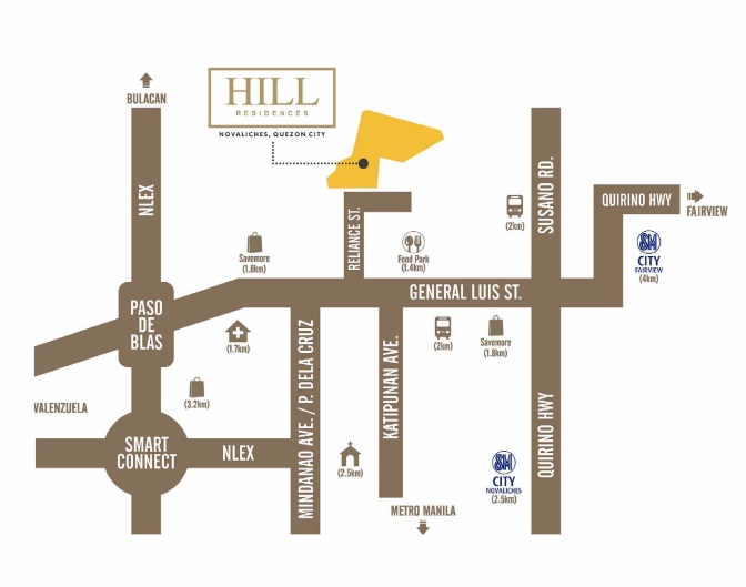 Hill Residences - Location Map