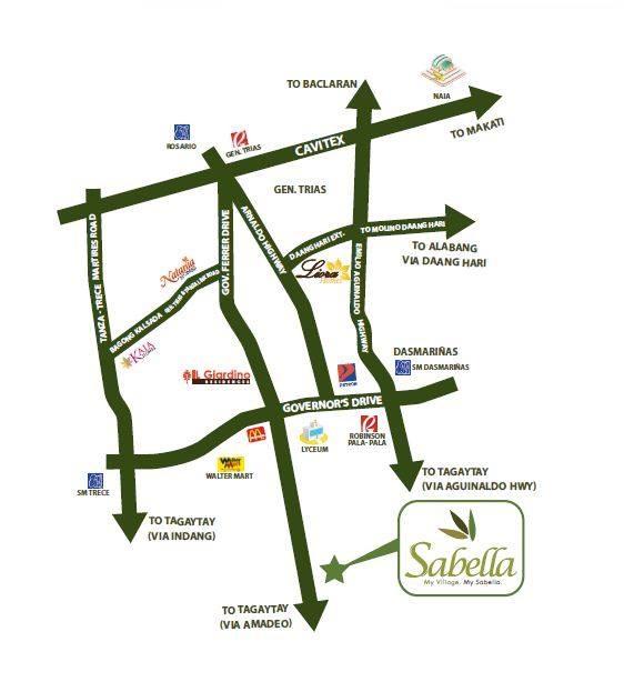 Sabella Village - Location Map