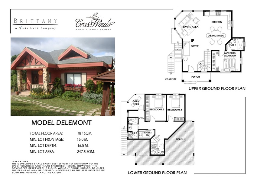 Crosswinds Tagaytay - Moutier Model Floor Plan