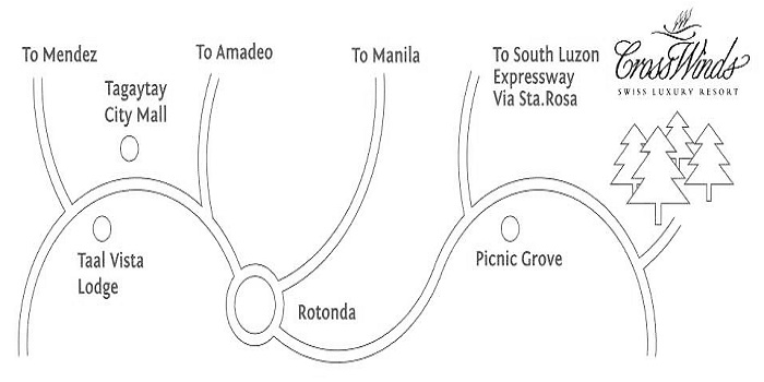 Crosswinds Tagaytay - Location Map
