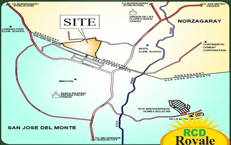 RCD Royale Homes Bulacan  - Location Map