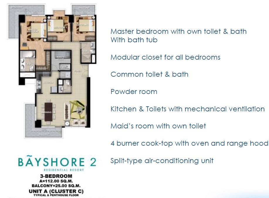 Bayshore 2 - 3 Bedroom Unit