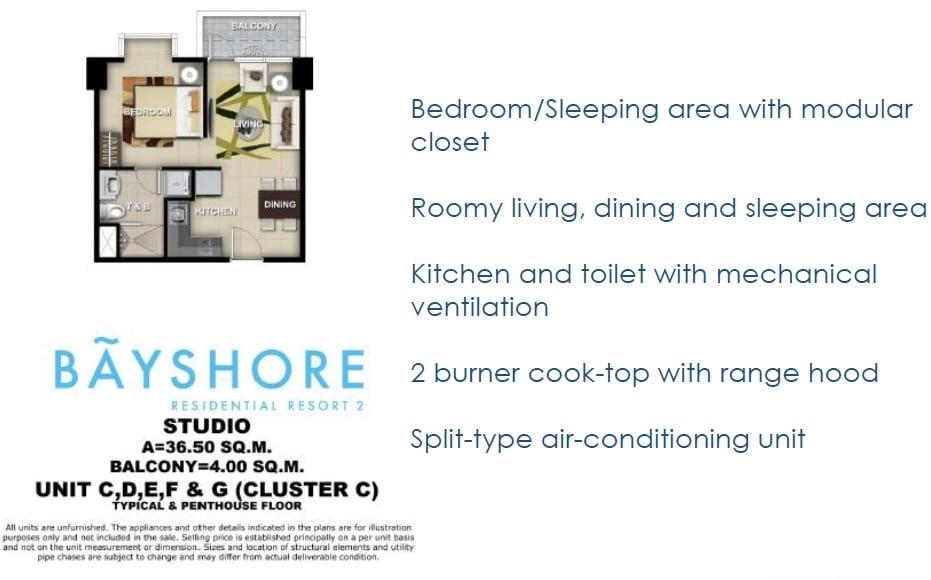 Bayshore 2 - Studio Unit