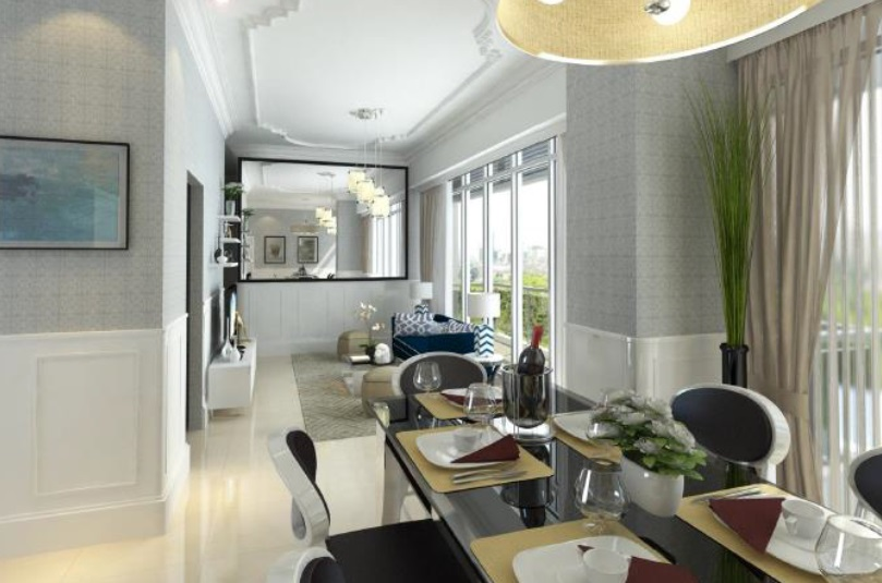 Bayshore 2 - Living and Dining Area