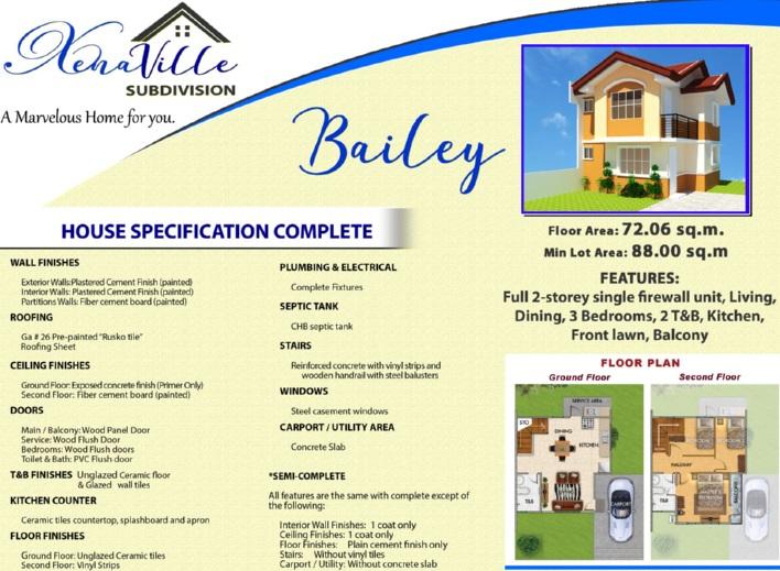 Xenaville Subdivision - Bailey House Model
