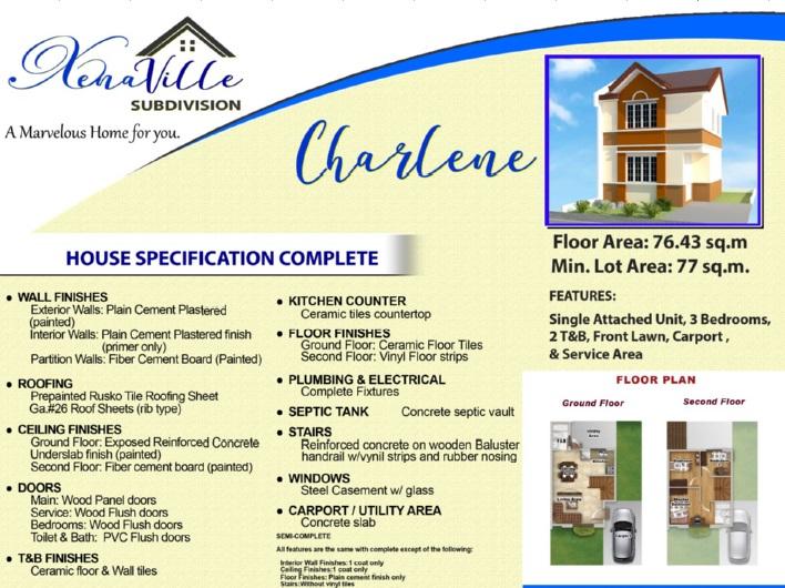 Xenaville Subdivision - Charlene House Model