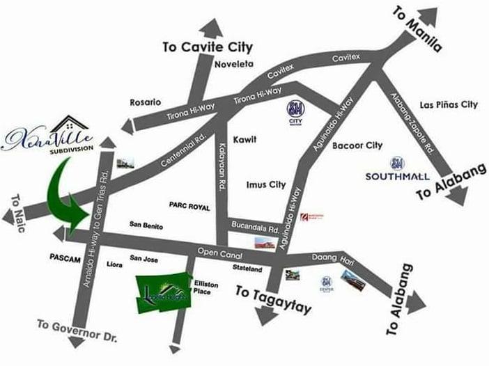 Xenaville Subdivision - Location & Vicinity