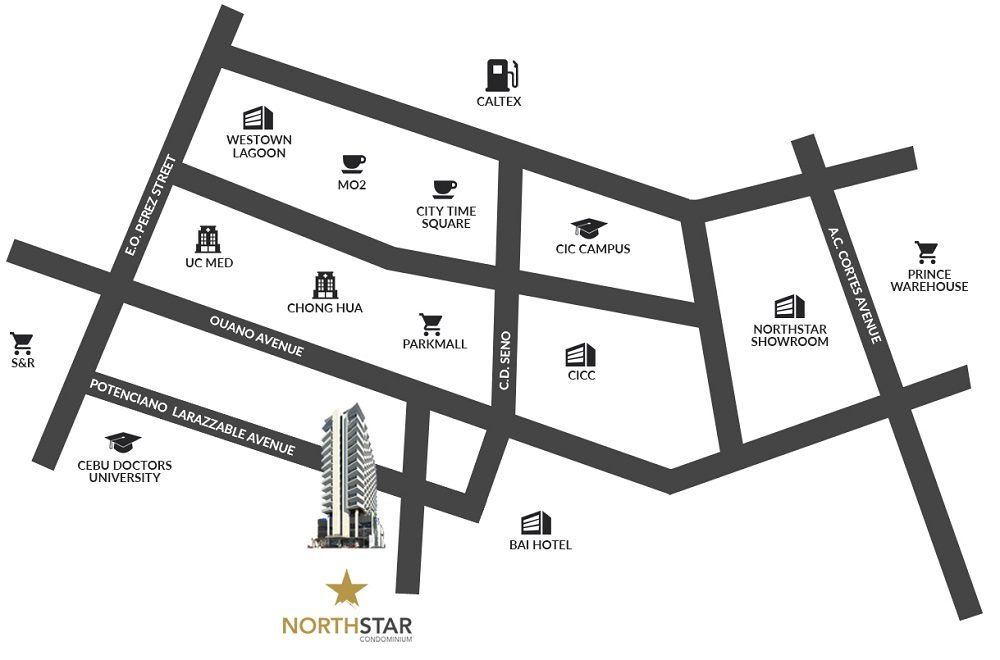 North Star Condominium - Location Map