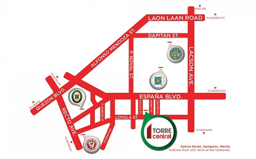 Torre Central - Location Map