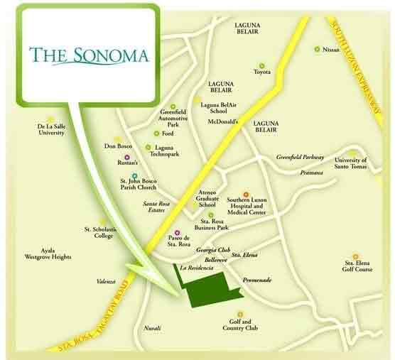The Sonoma - Location & Vicinity