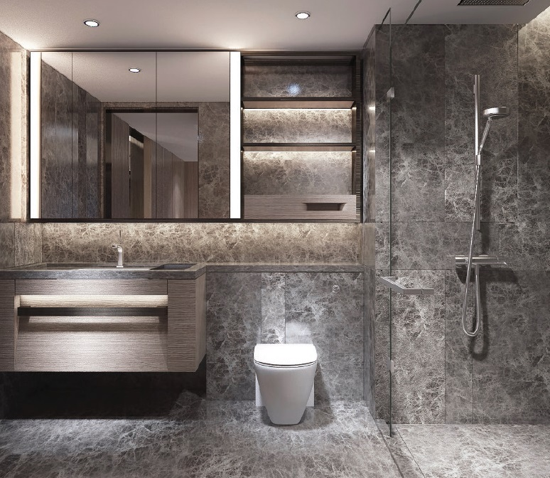 Shang Residences - 1 BR - Bathroom