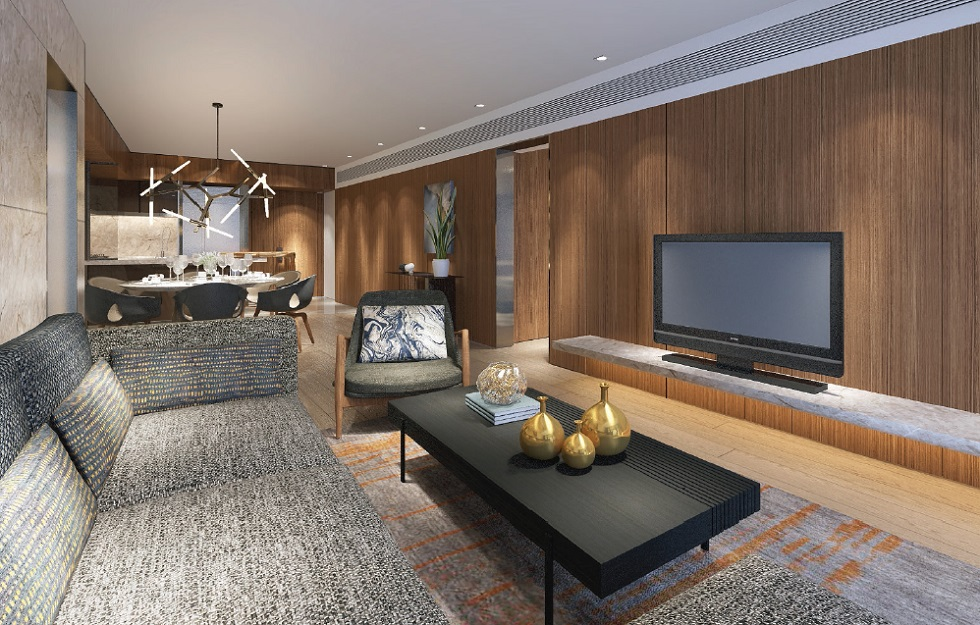 Shang Residences - 2 BR - Living Area
