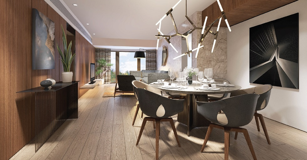 Shang Residences - 2 BR - Dining Area