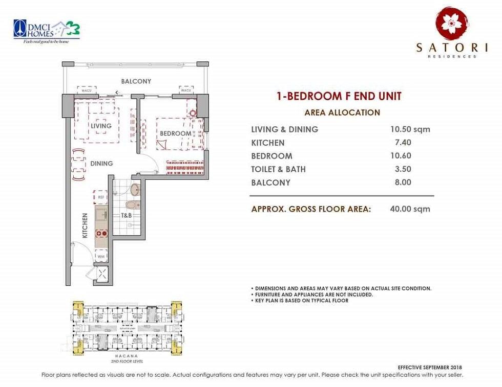 Satori Residences - 1 Bedroom F End Unit
