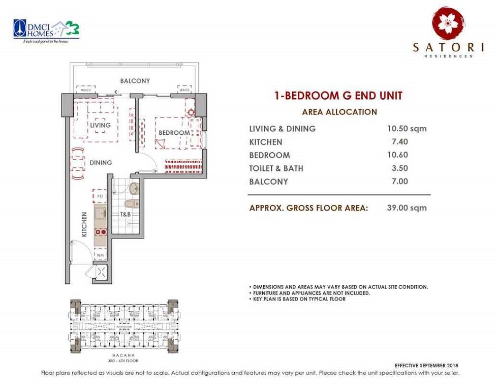 Satori Residences - 1 Bedroom G End Unit