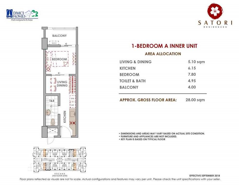 Satori Residences - 1 Bedroom A Inner Unit