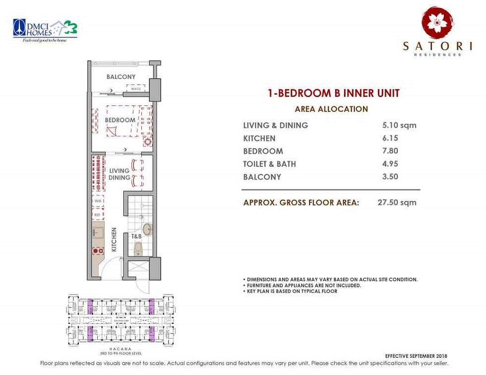 Satori Residences - 1 Bedroom B Inner Unit