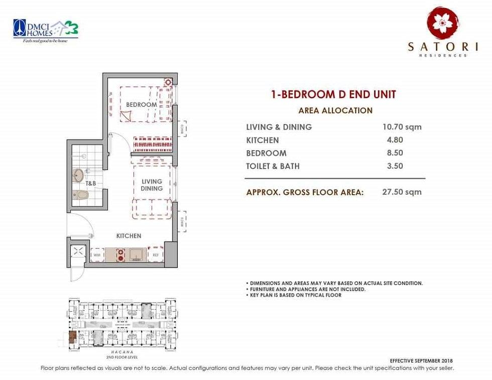 Satori Residences - 1 Bedroom D End Unit