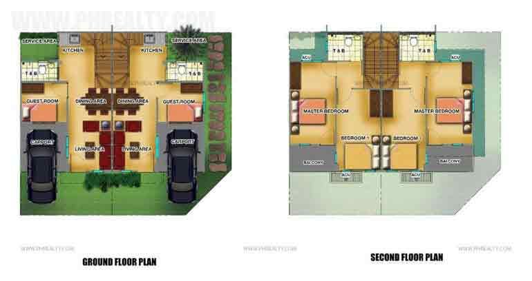 Lancaster New City - Anica Townhouse Floor Plan