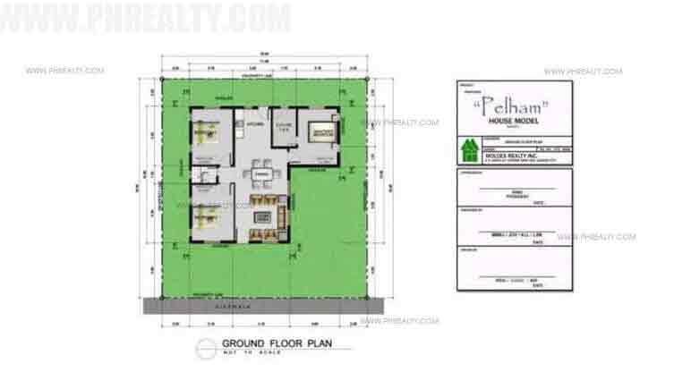 Metrogate Tagaytay Manors - Pelham Basic - Ground Floor Plan