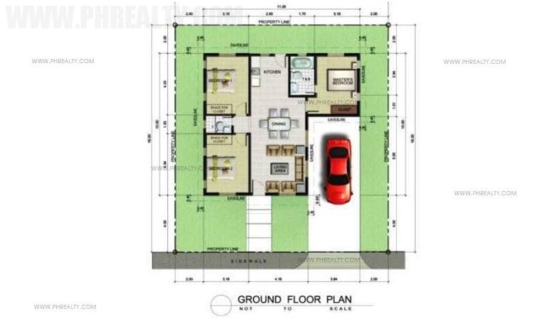 Metrogate Tagaytay Manors - Pelham Premium - Floor Plan