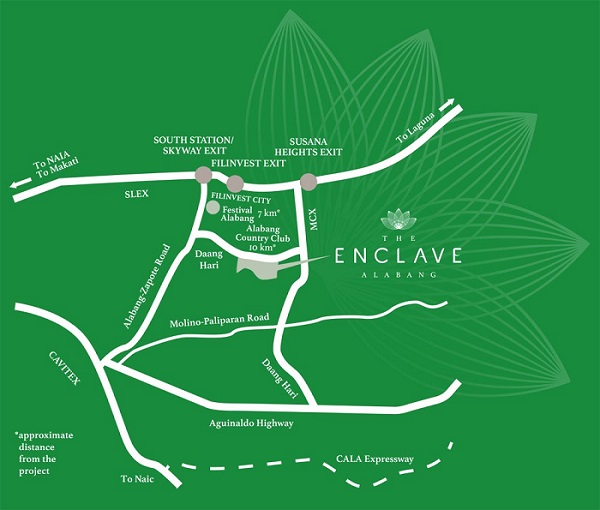 The Enclave Alabang - Location & Vicinity