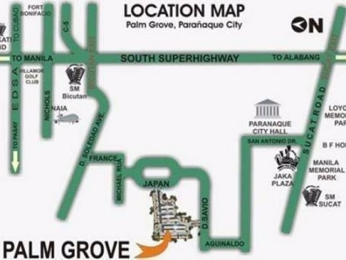 Palm Grove - Location Map