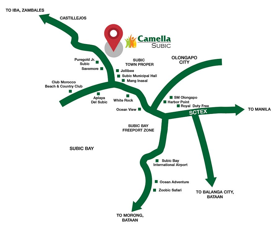 Camella Subic - Location Map