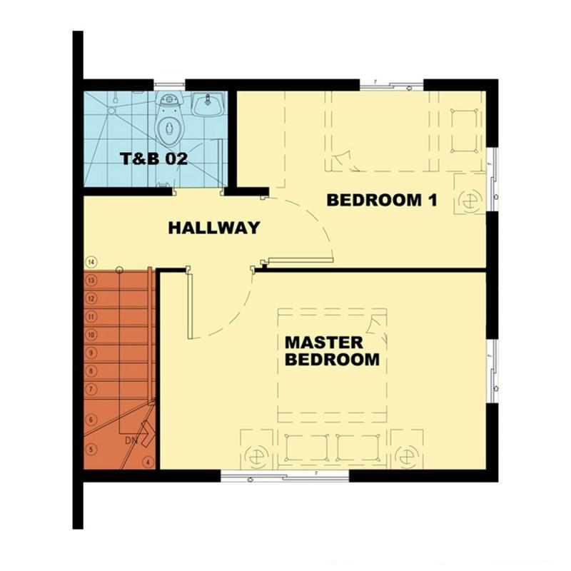 Camella Subic - Second Floor Plan