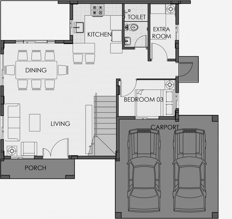 Camella Subic - Ground Floor Plan