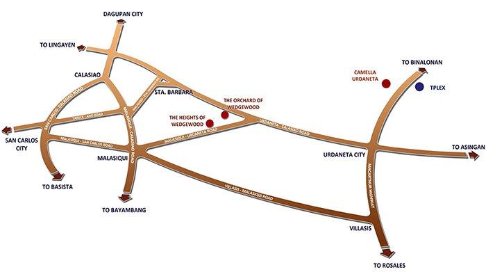 Camella Urdaneta - Location & Vicinity